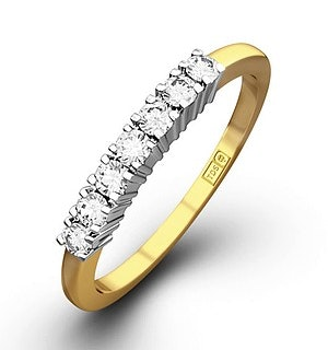 Chloe 18K Gold 7 Stone Diamond Eternity Ring 0.30CT PK