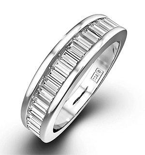 18K White Gold Baguette Diamond Eternity Ring 0.75CT H/SI - FT34-97JUY