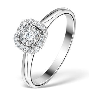 0.25ct Diamond Engagement Ring 18K White Gold Galileo FT65