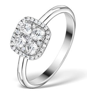 0.70ct Diamond Engagement and 18K White Gold Galileo Ring FT79