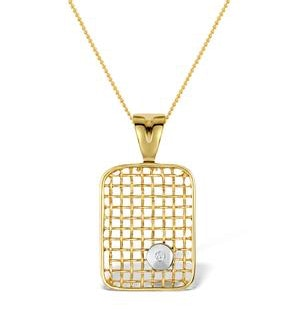 Diamond 0.02ct 9K Gold Pendant - RTC-G3319