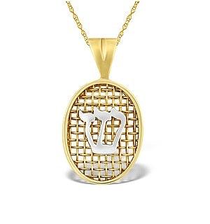 9K Gold Net Style Pendant