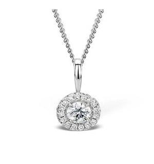 Ella 0.30ct Halo Lab Diamond and 9K White Gold Pendant