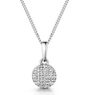 Stellato Collection Diamond Pendant Necklace in 9K White Gold - G4094