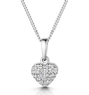 Stellato Collection Diamond Heart Pendant 0.04ct in 9K White Gold