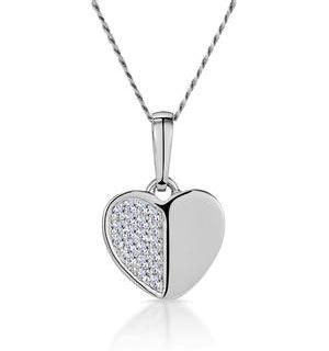 Stellato Heart Diamond Necklace in 9K White Gold