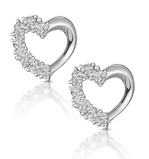 Small Fancy Earrings 0.10ct Diamond 9K White Gold