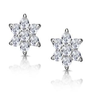 Cluster Earrings 0.30ct Diamond 9K Yellow Gold