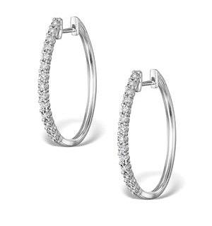 Hoop Earrings Diamond and 9K White Gold H4568