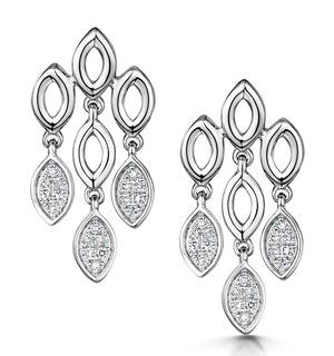 Stellato Collection Diamond Chandelier Earrings 0.12ct 9K White Gold