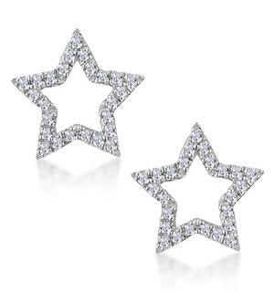 Stellato Star Lab Diamond Earrings in 925 Silver