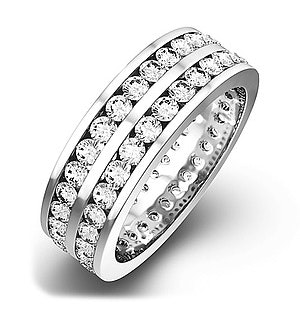 Mens 2ct H/Si Diamond 18K White Gold Full Band Ring  IHG38-422JUY