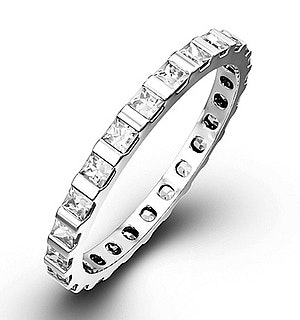 Eternity Ring Olivia 18K White Gold Diamond 1.00ct G/Vs