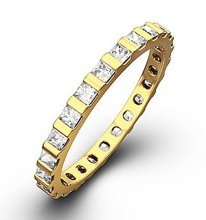 Eternity Ring Olivia 18K Gold Diamond 1.00ct G/Vs