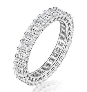 Francesca Diamond Eternity Ring Emerald Cut 3ct VVs Platinum Size H-I