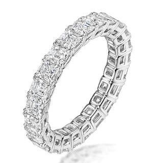 Elena Diamond Eternity Ring Asscher Cut 3.2ct VVs Platinum Size H-I