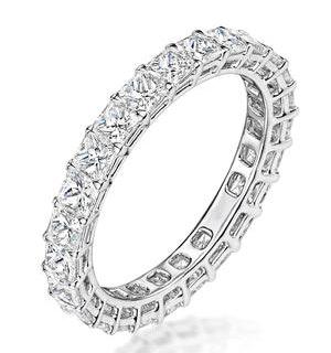 Gabrielle Diamond Eternity Ring Princess Cut 2.03ct VVs Platinum H-I