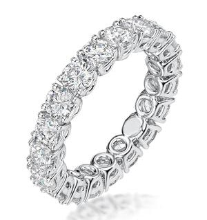 Stella Diamond Eternity Ring Round Cut 2.3ct VVs Platinum Size H-I