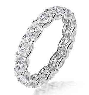 Isla Diamond Eternity Ring Oval Cut 1.98ct VVs Platinum Size H-I