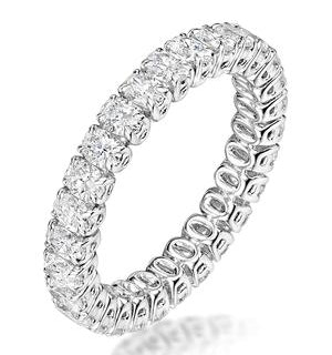 Sienna Diamond Eternity Ring Oval Cut 1.7ct VVs Platinum Size H-I