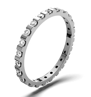 Eternity Ring Hannah 18K White Gold Diamond 0.50ct H/Si