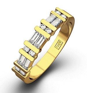 JESSICA 18K Gold Diamond ETERNITY RING 0.50CT H/SI