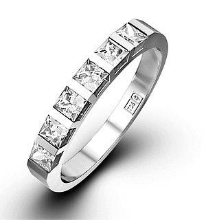 OLIVIA 18K White Gold Diamond ETERNITY RING 0.50CT H/SI