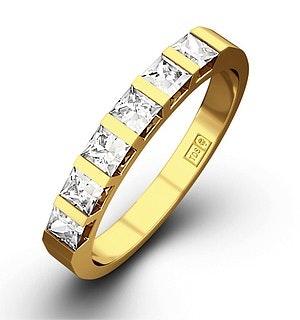 OLIVIA 18K Gold Diamond ETERNITY RING 0.50CT H/SI