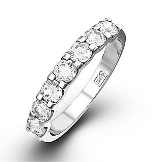 CHLOE 18K White Gold Diamond ETERNITY RING 0.50CT H/SI