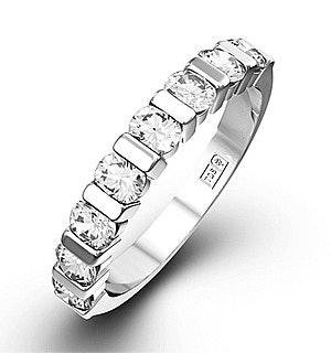 HANNAH 18K White Gold Diamond ETERNITY RING 0.50CT H/SI