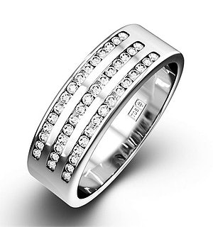 AMY 18K White Gold Diamond ETERNITY RING 0.50CT H/SI