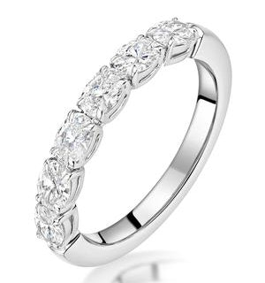 Helene Diamond Eternity Ring Oval Cut 1.1ct VVs 18KW Size J-N