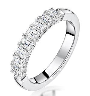 Norah Diamond Eternity Ring Emerald Cut 1.15ct VVs 18KW Size H-I