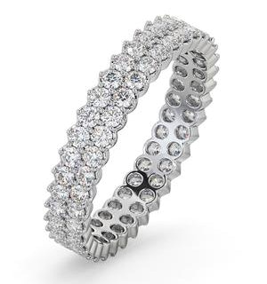 Eternity Ring Jasmine 18K White Gold Diamond 1.00ct H/Si