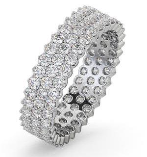 Mens 2ct H/Si Diamond 18K White Gold Full Band Ring  IHG30-422JUY