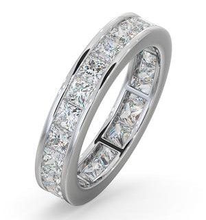 Mens 3ct H/Si Diamond 18K White Gold Full Band Ring  IHG31-522JUY