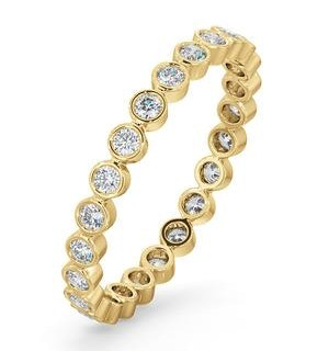 Eternity Ring Emily 18K Gold Diamond 0.50ct H/Si