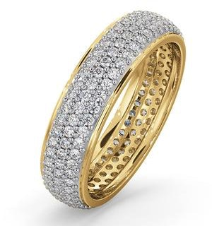 Eternity Ring Sara 18K Gold Diamond 1.00ct H/Si