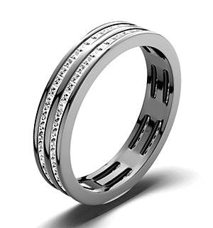 Mens 1ct G/Vs Diamond 18K White Gold Full Band Ring  IHG43-322XUY