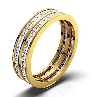 Mens 2ct H/Si Diamond 18K Gold Full Band Ring  IHG43-422JUA
