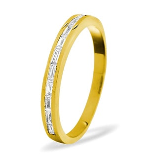 LILY 18K Gold Diamond ETERNITY RING 0.50CT H/SI