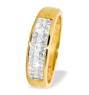 18K Gold Princess Cut Diamond Ring (0.50ct)