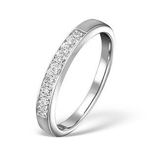 Diamond Wedding Ring 0.05CT Diamond 9K White Gold