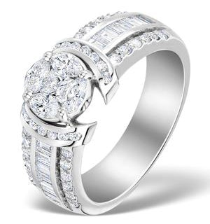 Engagement Ring Galileo 1.50ct Look Diamonds 18K White Gold N4488