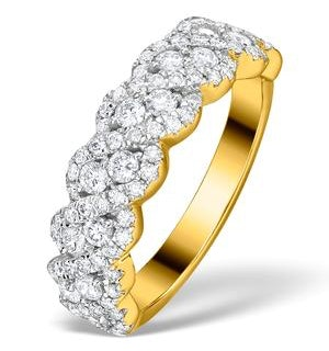 Lab Diamond Weave Ring 1CT H/Si in 9K Gold - N4545