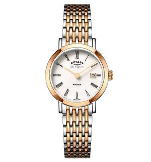 Rotary Les Originales Windsor Rose Gold Swiss Ladies Quartz Watch