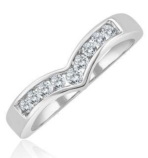 Lab Diamond Wishbone Ring 0.25ct H/Si in 9K White Gold