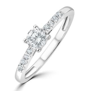 Lab Diamond Side Stone Engagement Ring 0.25ct H/Si in 9K White Gold