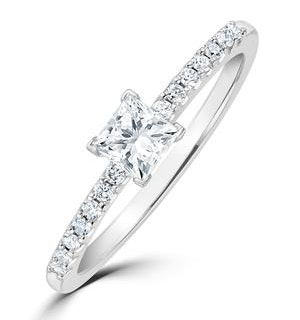 Princess Cut Lab Diamond Engagement Ring 0.25ct H/Si in 925 Silver