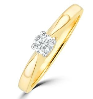 Tapered Design Lab Diamond Engagement Ring 0.15ct H/Si in 9K Gold